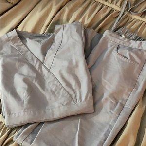 Hardly worn cool grey  greys anatomy scrub set.
